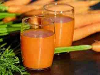Suco de cenoura detox para secar a barriga e emagrecer rápido